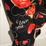 Girl's Mother's Day I Love You Leggings Leggings MomMe and More