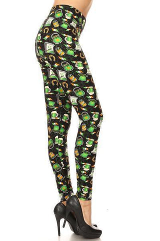 Women's St. Patrick's Day Leggings: OS and Plus Leggings MomMe and More