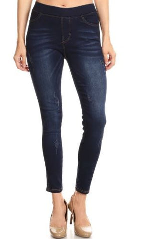 Women's Jeggings Solid Skinny Dark Wash Jeans: S/M/L Jeans MomMe and More