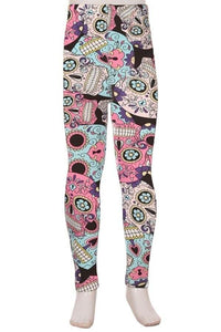 Leggings for Girls PINK SKULL CANDY, Christmas Gifts