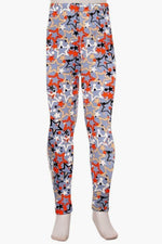Girls Memorial Day Star Printed Leggings: S and L - MomMe and More Matching Mommy and Me Clothing