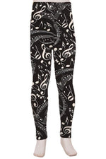 Leggings for Girls MUSIC NOTES,  Sizes S/L