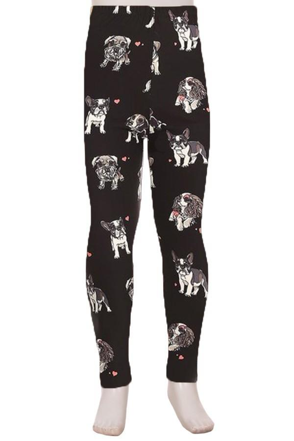 Girl's Dog Leggings Small Breed Puppies Terrier Pugs and More: S/L - MomMe and More