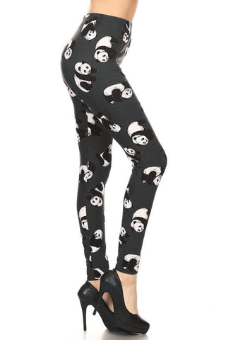Womens Panda Bear Leggings: Gray Leggings MomMe and More