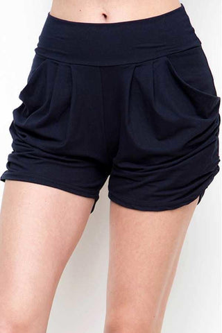 Women's Pocket Harem Shorts: Navy Blue Shorts MomMe and More