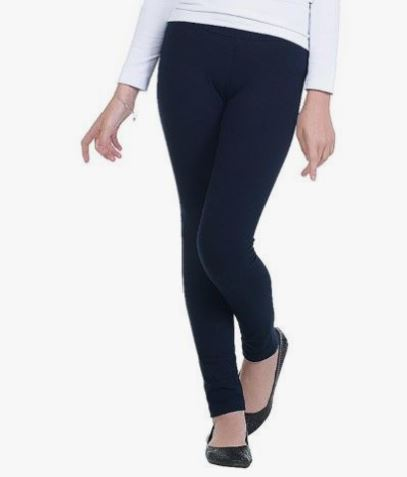 Girl's Navy Blue Leggings Solid Navy Blue: S/L Leggings MomMe and More