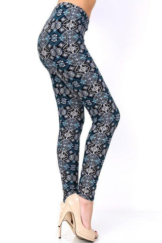 Women's Geometric Printed Leggings: OS and Plus Leggings MomMe and More