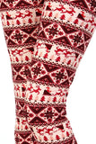 Women's Christmas Holiday Leggings Red: OS or Plus Leggings MomMe and More