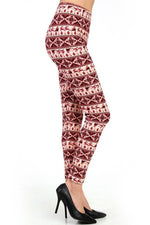 Christmas Leggings for Women SANTA, SLEIGH & REINDEER, OS/Plus