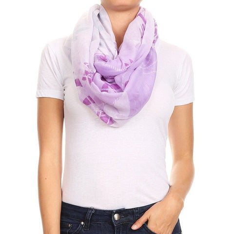 Women's Spring Purple Butterfly Floral Infinity Scarf MomMe and More