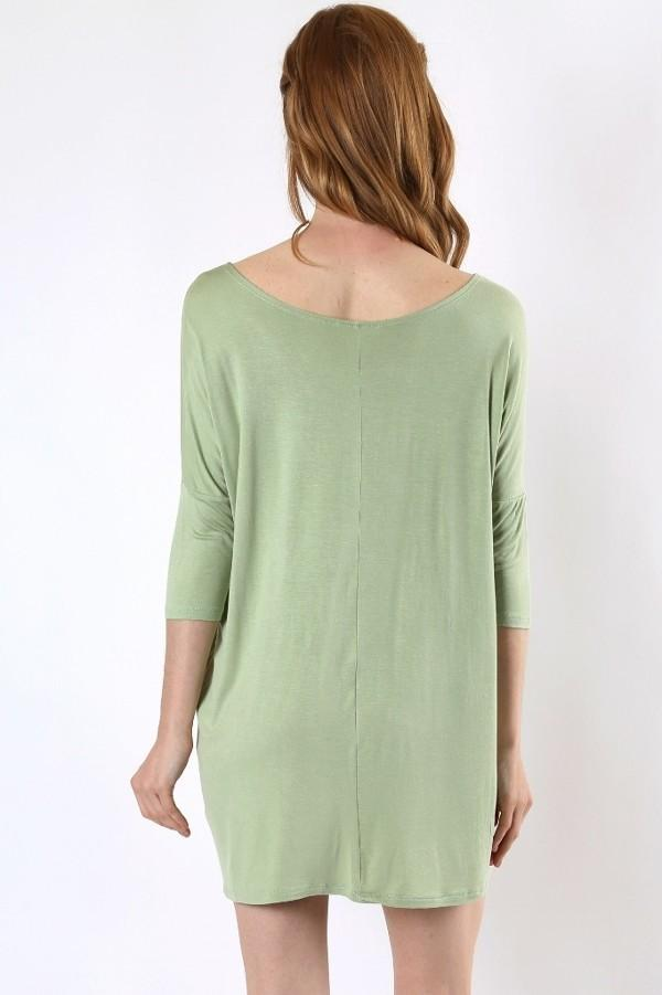 Green Tunic Top for Women Mint Green Cute String Detail: S/M/L/XL