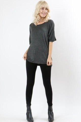 50% Off Women's Gray Top Short Sleeve Shirt: S/M/L Tops MomMe and More