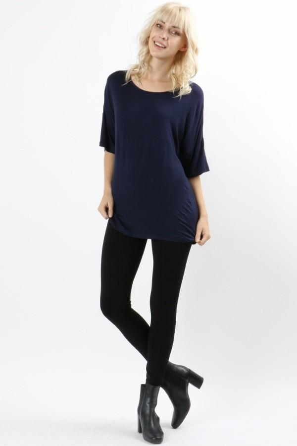 Women's Blue Top Short Sleeve Shirt: S/M/L Tops MomMe and More