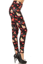Women's I Love You Leggings: OS and Plus Leggings MomMe and More