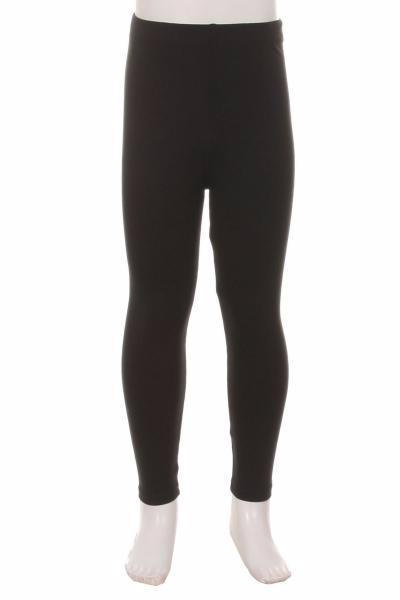 Girl's Black Leggings Solid Black:  S/L - MomMe and More