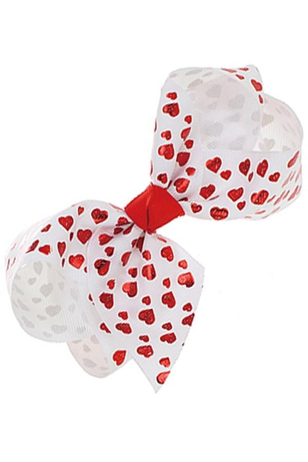 Girl's JoJo Inspired Large Cheer Hair Bow Hearts - MomMe and More Matching Mommy and Me Clothing