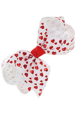 Girl's JoJo Inspired Large Cheer Hair Bow: Valentine's Day Hearts