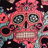 Girl's Sugar Skull Pink Leggings Leggings MomMe and More