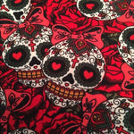 Women's Halloween Skull Leggings: Red Leggings MomMe and More