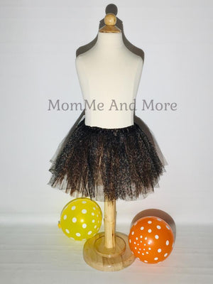 Girl's Ballet Tutu Princess Flower Skirt Cheetah Brown MomMe And More