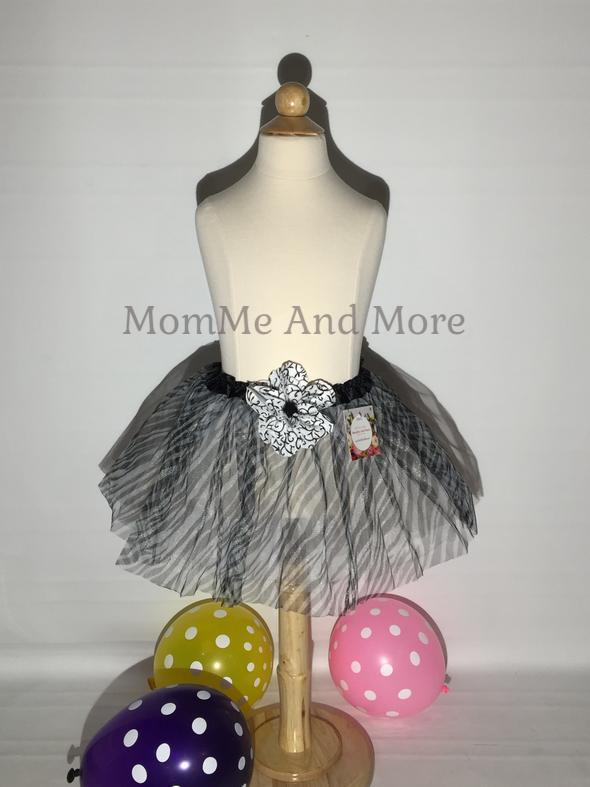 50% Off Girl's Zebra Ballet Tutu Princess Full Tulle Skirt Tutu MomMe and More
