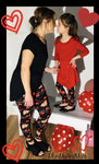 Girls Valentines Day I Love You Leggings Leggings MomMe and More