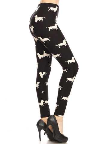 Women's Dachshund Dog Leggings Leggings MomMe and More