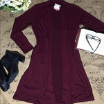 Women's Maroon Pocket Cardigan: Plus Cardigan MomMe and More
