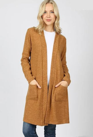 Women's Sweater Cardigan With Pockets, Coffee: Plus 1XL/2XL/3XL Cardigan MomMe and More