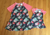 Mommy and Me Matching Floral Summer Dresses: Pink/Blue MomMe and More