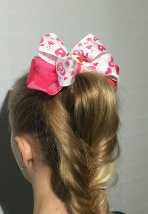 Girl's JoJo Inspired Large Cheer Hair Bow: Teddy Bear accessories MomMe and More