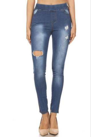 Women's Distressed Jegging Jeans Jeans MomMe and More