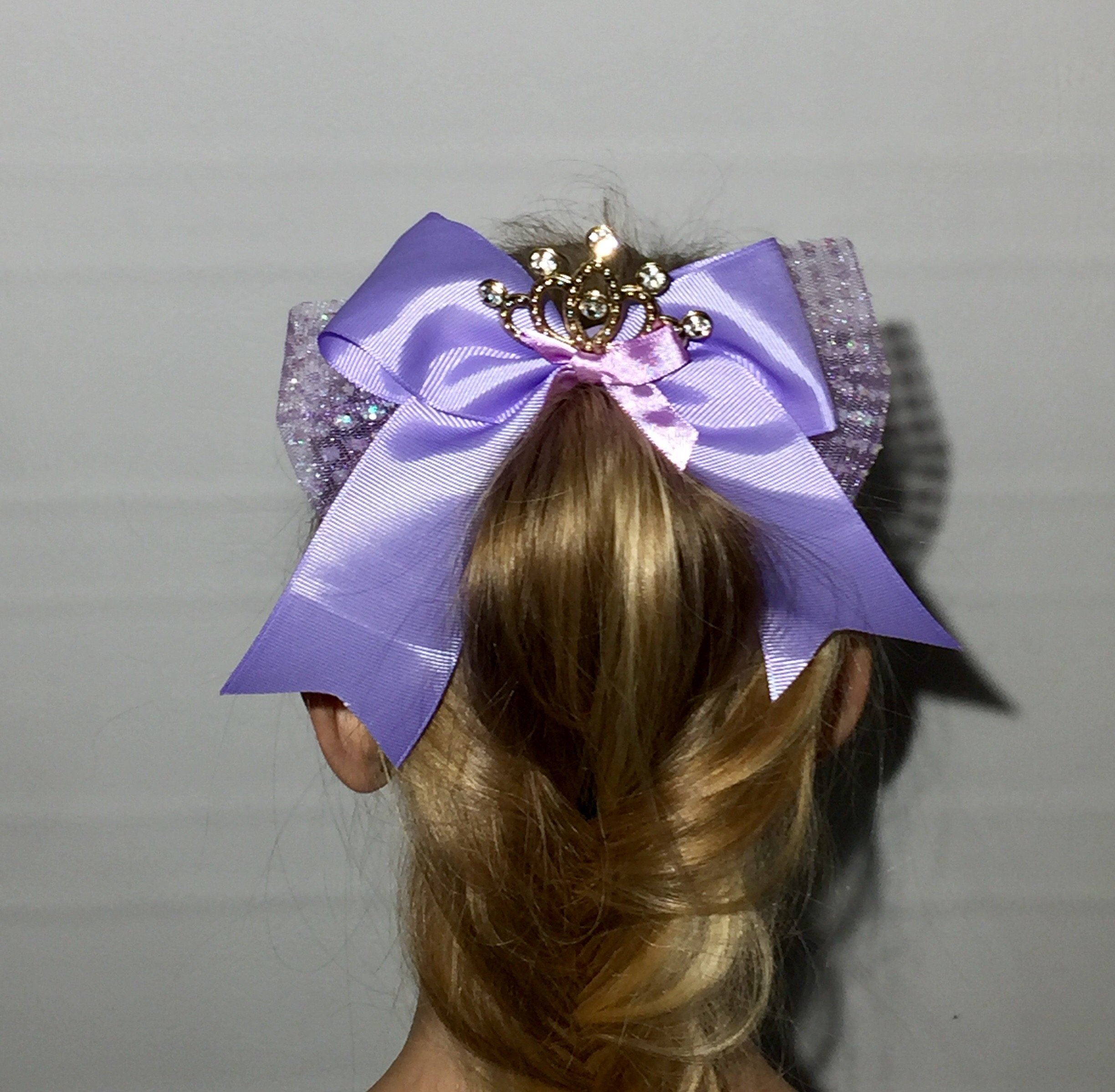 Girl's JoJo Inspired Cheer Big Hair Bow: Princess Tiara