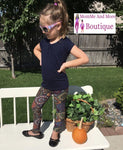 Girl's Mosaic Fall Leggings: Multicolor Leggings MomMe and More