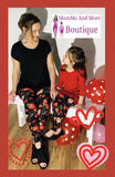 Womens Valentines Day I Love You Leggings Leggings MomMe and More
