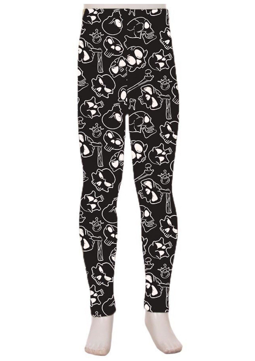 Leggings for Girls SKULLS & BONES PRINT, S/L