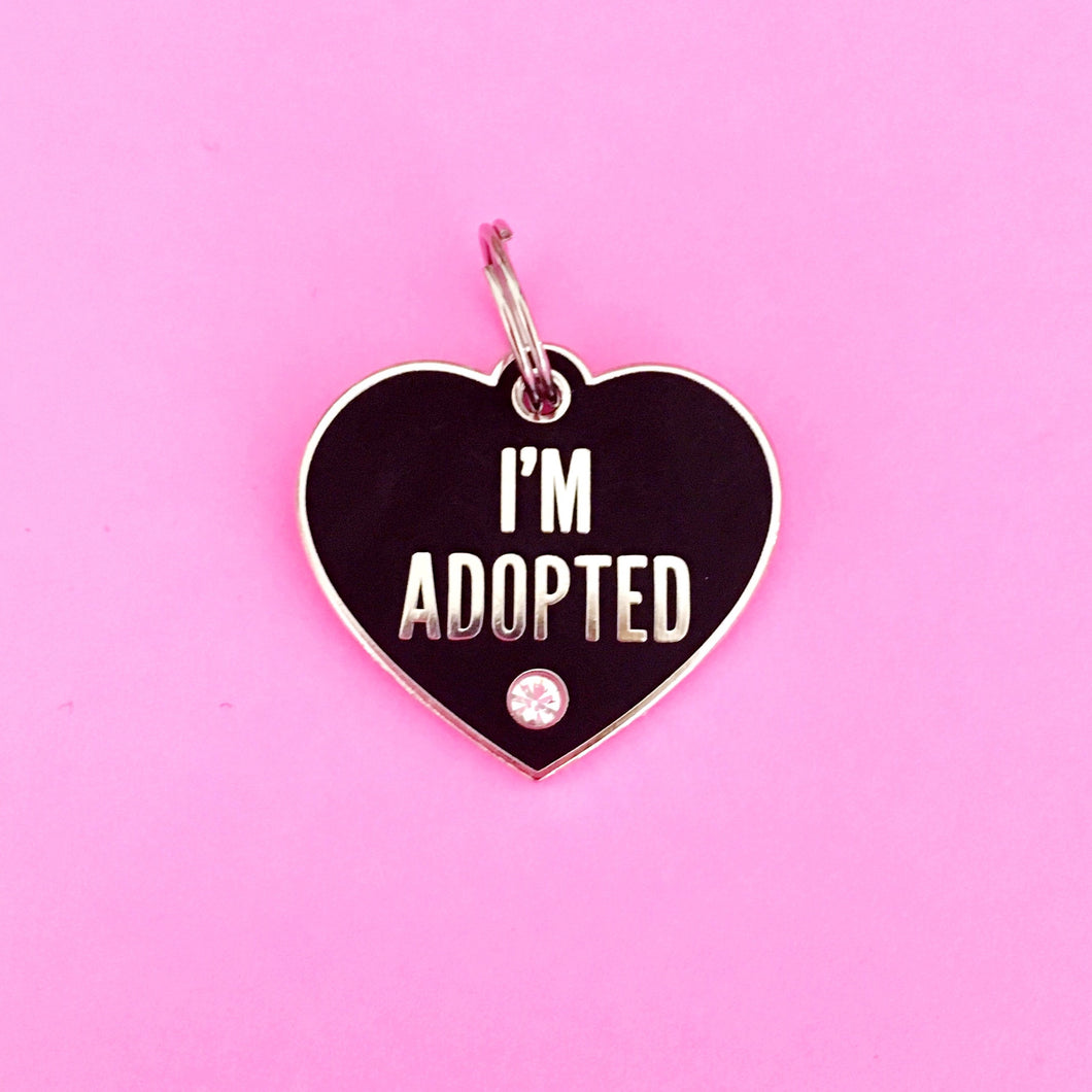 I'm Adopted pet charm