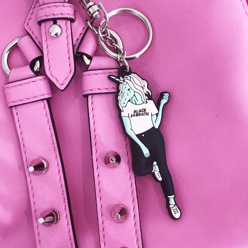 Heavy Metal Unicorn Keychain