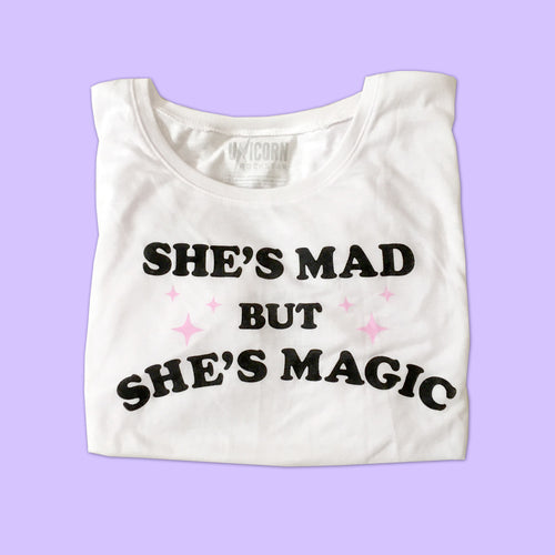 Mad But Magic Boxy Tee in White