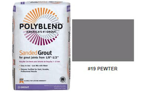 #19 PEWTER SANDED GROUT 25LB $15.99/BAG - Home Idol Home Improvement Outlet