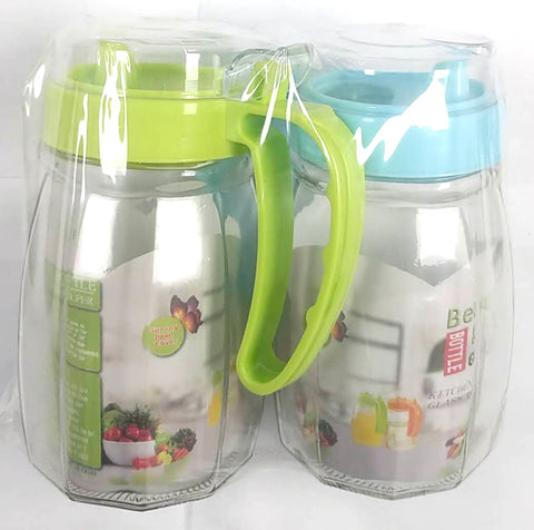 BOTTLE GLASS OILER WITH U SHAPE HANDLE BEAUTY KITCHEN 2PC/PACK $3.99 - Home Idol Home Improvement Outlet