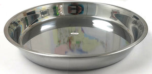 "BIG ROUND CAKE PLATE STAINLESS STEEL GUOSHENG 36CM=14"" $2.75 - Home Idol Home Improvement Outlet"