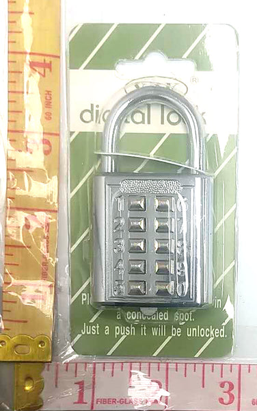 Y2K DIGITAL LOCK WITH PUSH NUMBER BUTTONS $3.99
