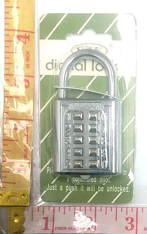 Y2K DIGITAL LOCK WITH PUSH NUMBER BUTTONS $3.99 - Home Idol Home Improvement Outlet