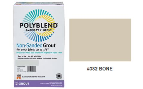 #382 BONE NON SANDED GROUT 10LB $15.50/BAG - Home Idol Vancouver