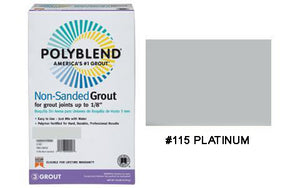 #115 PLATINUM NON SANDED TILE GROUT 10LB $15.99/BAG - Home Idol Home Improvement Outlet