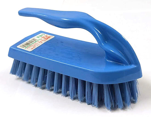 "1131 SMALL CLOTH WASHING BRUSH BROOM WITH HANDLE BLUE 5.5""X2"" $1.5 - Home Idol Vancouver"