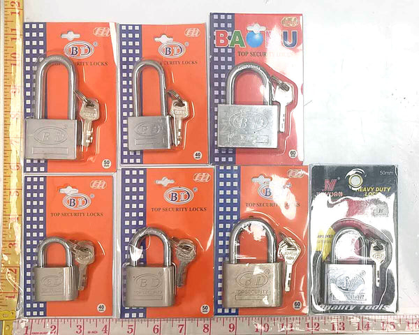 TOP SECRUITY LOCK (PADLOCK) WITH 3 KEYS (40MM/50MM/60MM) ANY BRAND $3.99