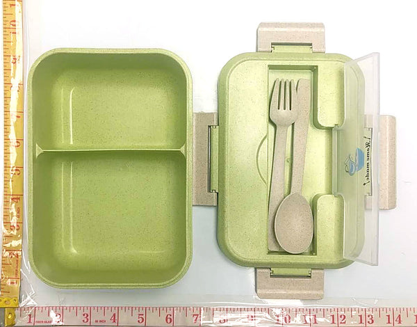 9021 HOME MADE LUNCH BOX WITH LID+FORK+SPOON $3.99