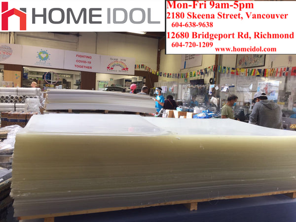 3MM =3/32INCH PLEXIGLASS/ACRYLIC SHEET 4 FEET X 8 FEET $79/PC